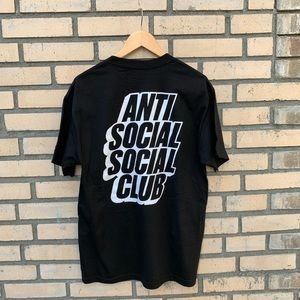 Black Antisocial Social Club T-shirt